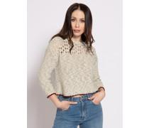 Pullover offwhite/grün