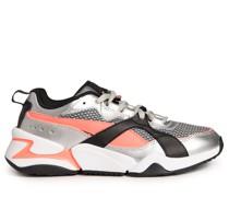 Sneaker silber/pink/schwarz