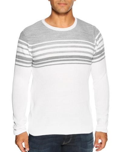 Pullover weiß/grau