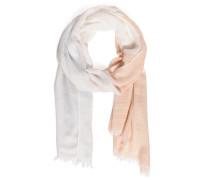 Schal, weiß/rosa, Damen