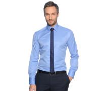 Hemd Slim Fit + Krawatte, hellblau, Herren