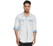 Hemd Regular Fit, blau/offwhite, Herren