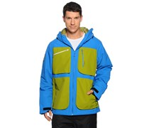 Ski-/Snowboardjacke, blau/grün, Herren