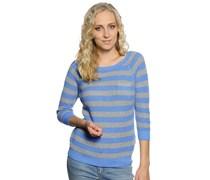 Pullover, blau/grau, Damen
