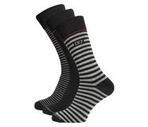 Socken 3er Set schwarz/grau