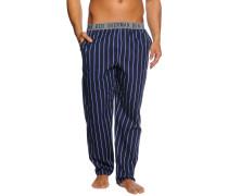 Pyjamahose, navy/gestreift, Herren