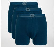 Boxershorts 3er Set blau