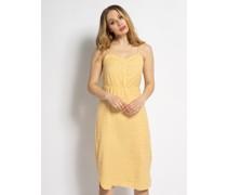 Kleid gelb/weiß
