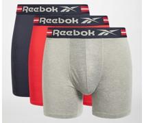 Boxershorts 3er Set navy/rot/grau