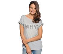 T-Shirt, grau meliert, Damen