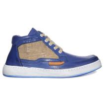 Sneaker, blau/beige, Herren