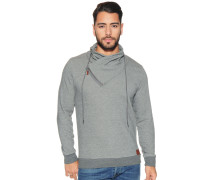 Sweatshirt mit Tubekragen, Grau, Herren
