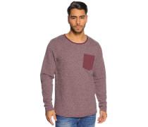 Sweatshirt, Lila, Herren