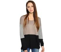 Pullover, braun/schwarz, Damen