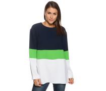 Blusenshirt, navy/grün/weiß, Damen