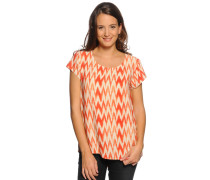 Blusenshirt, orange/offwhite, Damen