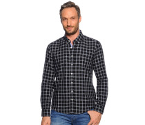 Hemd Regular Fit, navy kariert, Herren