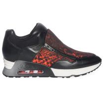 Sneaker, schwarz/rot, Damen