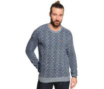 Pullover, blau meliert, Herren