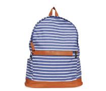 Rucksack, blau/weiß gestreift, Unisex