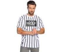 T-Shirt, weiß/schwarz, Herren