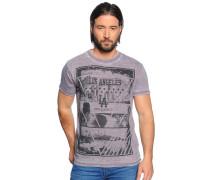 T-Shirt, mauve, Herren