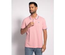 Kurzarm Poloshirt Regular Fit rosa