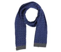 Schal, blau/grau, Herren