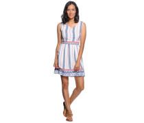 Kleid, weiß/blau/rot, Damen