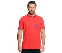 Poloshirt, rot, Herren