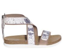 Sandalen, offwhite/blau, Damen