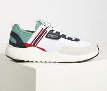 Sneaker weiß/blau/grau