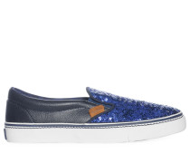Slipper, navy, Damen