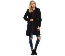 Mantel mit Kaschmir, schwarz, Damen