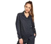 Pyjamaoberteil, navy, Damen