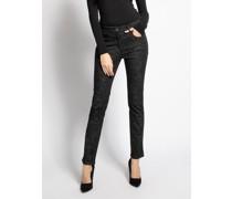 Jeans Twigy silber/schwarz