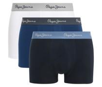 Boxershorts 3er Set weiß/blau/navy