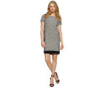 Kleid, schwarz/weiß, Damen