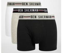 Boxershorts 3er Set shwarz/weiß/grau