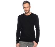 Pullover mit Kaschmir, schwarz, Herren