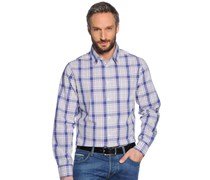 Hemd Regular Fit, navy/hellgrau kariert, Herren