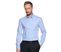 Stretchhemd Slim Fit, Blau, Herren