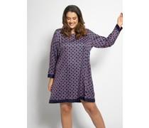Kleid (große Größe) navy/magenta