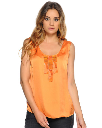 Top, Orange, Damen