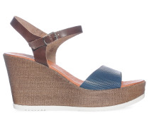 Wedges, braun/blau, Damen