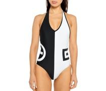 Badeanzug schwarz/weiß