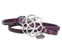 Armband, aubergine/silber, Damen