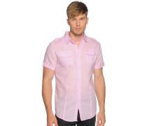 Kurzarmhemd Custom Fit, rosa, Herren