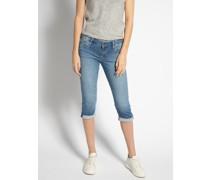 Jeans Capri hellblau