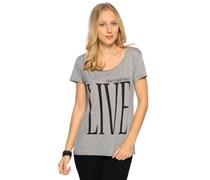 T-Shirt, grau/melange, Damen
